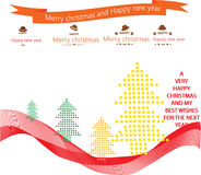 Cartão do ano novo com por ano 2016 Imagens de Stock