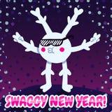 Cartão do ano novo dos ganhos e fundo (estilo dos ganhos) ilustração do vetor