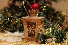 Cartão do ano novo e do Cristmas Fotografia de Stock Royalty Free
