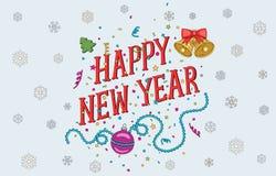 Cartão 2017 do ano novo e do Natal Fotos de Stock Royalty Free