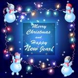 Cartão do ano novo e do vetor do Natal Imagem de Stock Royalty Free