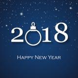 Cartão do ano 2018 novo feliz Fotos de Stock