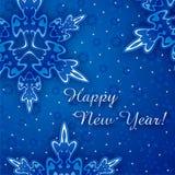 Cartão do ano novo feliz foto de stock
