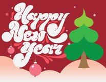 Cartão do ano novo feliz Foto de Stock Royalty Free
