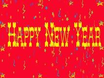 Cartão do ano novo feliz Fotografia de Stock