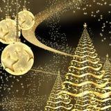 Cartão do ano novo feliz ilustração royalty free