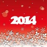 Cartão do ano 2014 novo feliz Imagens de Stock Royalty Free
