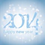 Cartão do ano novo feliz 2014 ilustração stock