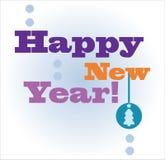 Cartão do ano novo feliz Imagem de Stock
