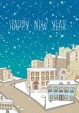 Cartão do ano novo feliz ilustração do vetor
