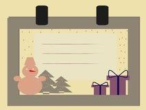 Cartão do ano novo feliz Imagens de Stock