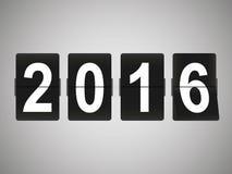 Cartão do ano novo feliz 2016 Fotos de Stock Royalty Free