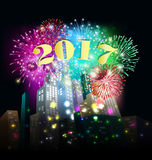 Cartão 2017 do ano novo feliz Imagem de Stock