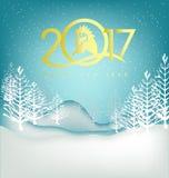 Cartão 2017 do ano novo feliz Fotografia de Stock