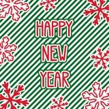 Cartão do ano novo feliz Fotografia de Stock Royalty Free