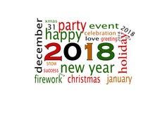 Cartão 2018 do ano novo feliz ilustração stock