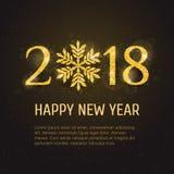 Cartão do ano novo feliz do vetor 2018 Imagens de Stock