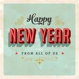 Cartão do ano novo feliz do vintage Fotografia de Stock