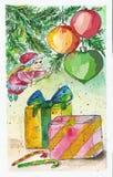 Cartão do ano novo feliz e do Natal imagens de stock royalty free