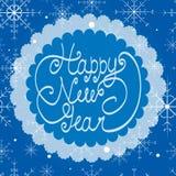 Cartão do ano novo feliz Ilustração do vintage Fotos de Stock