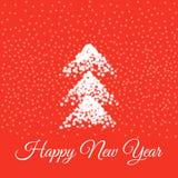 Cartão do ano novo feliz Ilustração do vetor ilustração stock