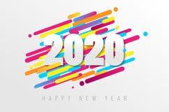 Cartão do ano novo feliz 2020 ilustração royalty free