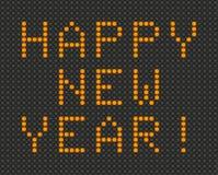 Cartão do ano novo feliz no estilo claro da placa Foto de Stock