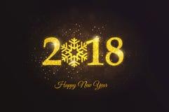 Cartão 4 do ano novo do feriado Foto de Stock Royalty Free