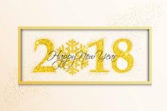 Cartão do ano novo do feriado no fundo branco Fotografia de Stock