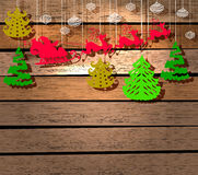 Cartão do ano novo para o projeto do feriado Foto de Stock