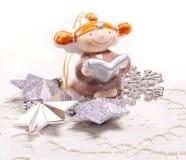 Cartão do ano novo para o projeto do feriado com anjo Imagens de Stock
