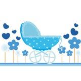 Cartão do azul de bebê Imagem de Stock Royalty Free