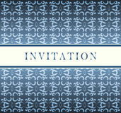 Cartão do azul do convite Fotografia de Stock Royalty Free