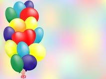 Cartão do balão Fotografia de Stock Royalty Free