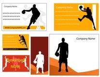 Cartão do basquetebol e p Foto de Stock Royalty Free
