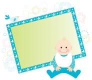 Cartão do bebé Fotografia de Stock Royalty Free