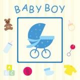Cartão do bebé Fotos de Stock