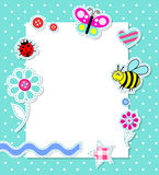 Cartão do bebé do vetor com elementos do scrapbook Fotos de Stock Royalty Free