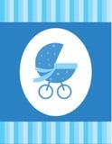 Cartão do bebê azul Imagens de Stock Royalty Free