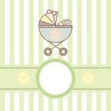 Cartão do bebê com berço Fotos de Stock