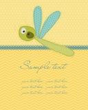 Cartão do bebê do cumprimento Imagens de Stock Royalty Free