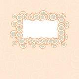 Cartão do bebê do vetor com quadro e botões Imagens de Stock Royalty Free