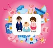 Cartão do bebê dos desenhos animados Foto de Stock