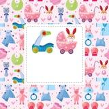 Cartão do bebê dos desenhos animados ilustração do vetor