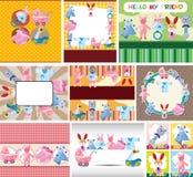 Cartão do bebê dos desenhos animados ilustração stock