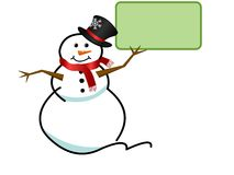 Cartão do boneco de neve Fotografia de Stock