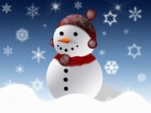 Cartão do boneco de neve Imagem de Stock
