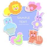 Cartão do brinquedo da criança dos desenhos animados Imagem de Stock Royalty Free