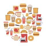 Cartão do café Imagens de Stock