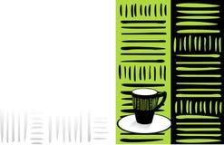 Cartão do café ilustração royalty free